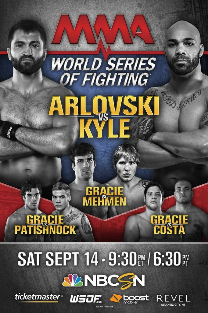 Three members of Gracie family added to World Series of Fighting 5 card