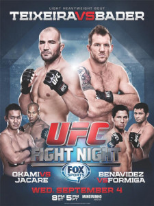 UFC Fight Night 28: Teixeira vs Bader Quick Results