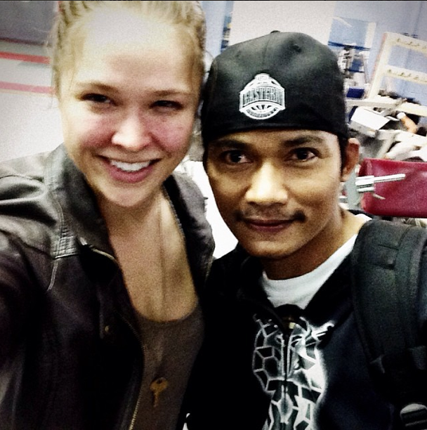 Photo: Ronda Rousey hitting the gym with Tony Jaa during 'Fast 7' filming