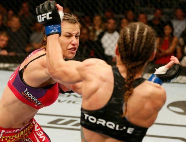 Miesha Tate scores a decision victory over Liz Carmouche.