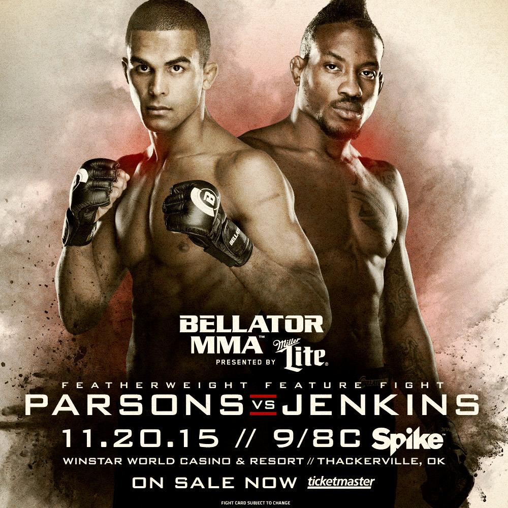 Bubba Jenkins meets Jordan Parsons at Bellator 146
