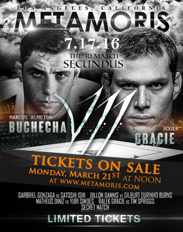 Metamoris will officially come back in July with a stacked seventh event, headlined by Marcus Almeida Buchecha vs. Roger Gracie.