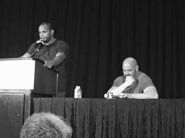 Daniel Cormier speaks about Jon Jones being forced out of the main event of UFC 200. (Picture courtesy of Fight Network's John Pollock)