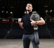 MANCHESTER, ENGLAND - AUGUST 26: Michael Bisping poses for a photograph ahead of UFC 204 on August 26, 2016 in Manchester, England. (Photo by Chris Brunskill/Zuffa LLC)