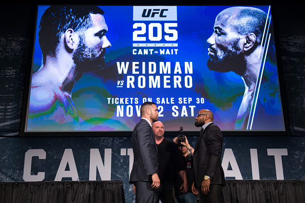 A Guide To UFC 205: Weidman vs. Romero