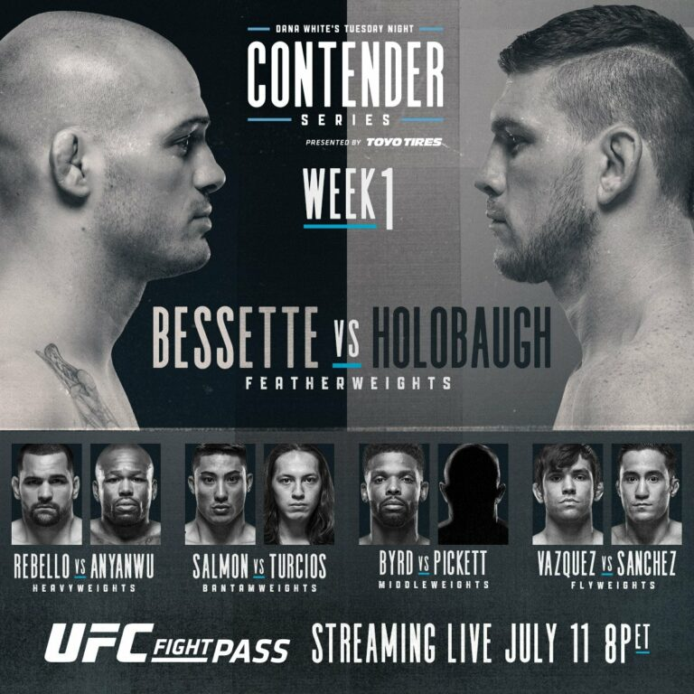 Tuesday Night Contender Series: Week 1 - Live Results