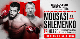 Mousasi vs. Shlemenko main card instant update and results