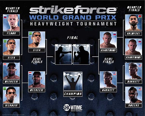 Comparing the Bellator heavyweight gran prix to Strikeforce's