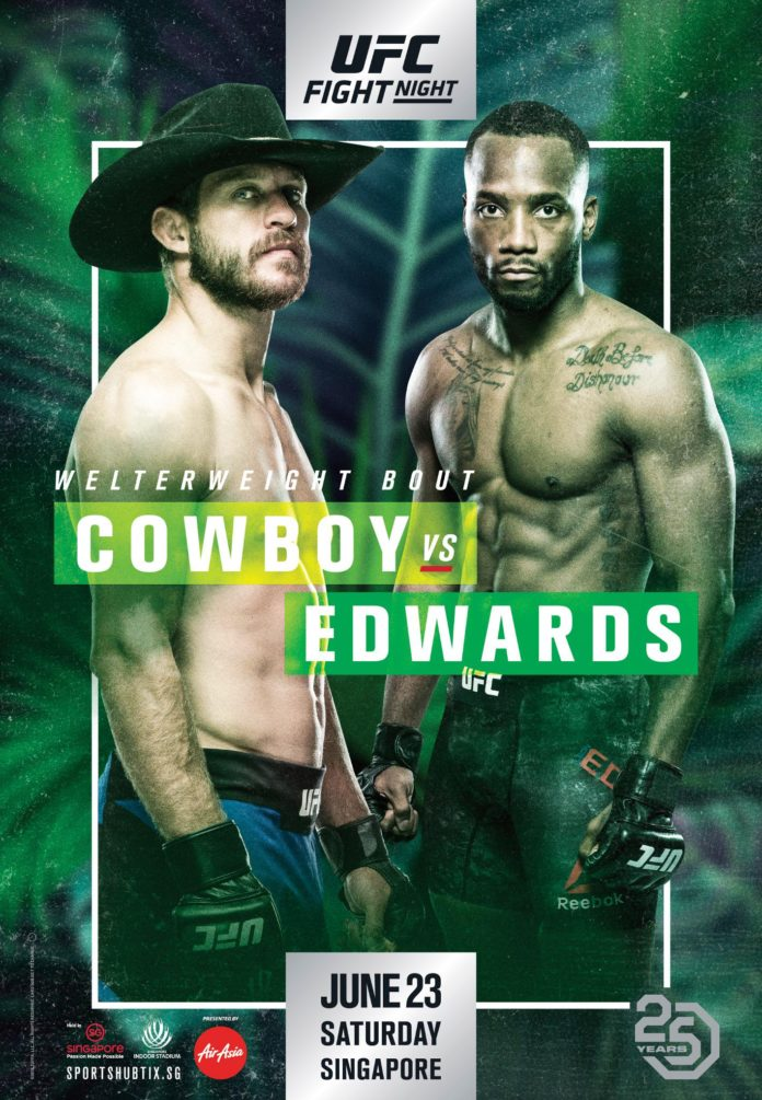 The poster for UFC Fight Night 132: Cerrone vs. Edwards