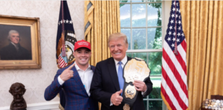 Colby Covington with President Donald Trump