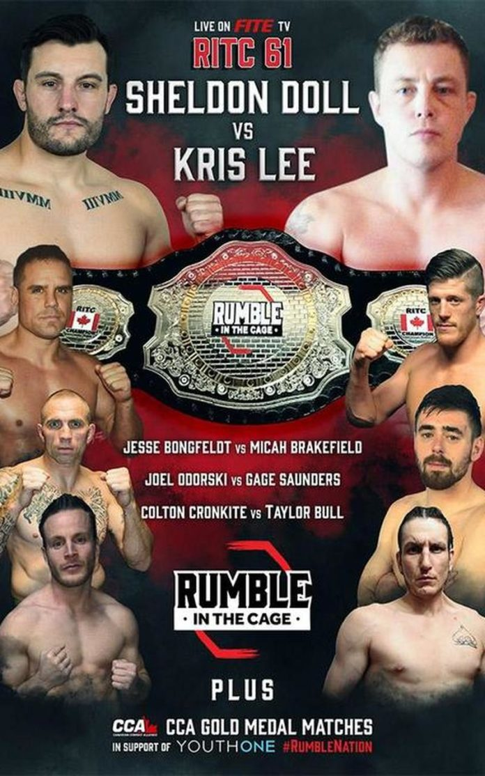 Rumble in the Cage 61 live poster.