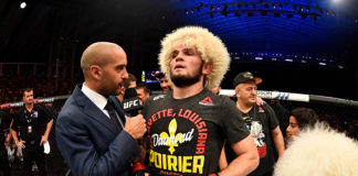 Khabib Nurmagomedov post-fight