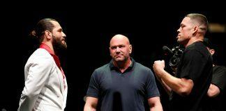 UFC 244 Stare down Nate Diaz Jorge Masvidal