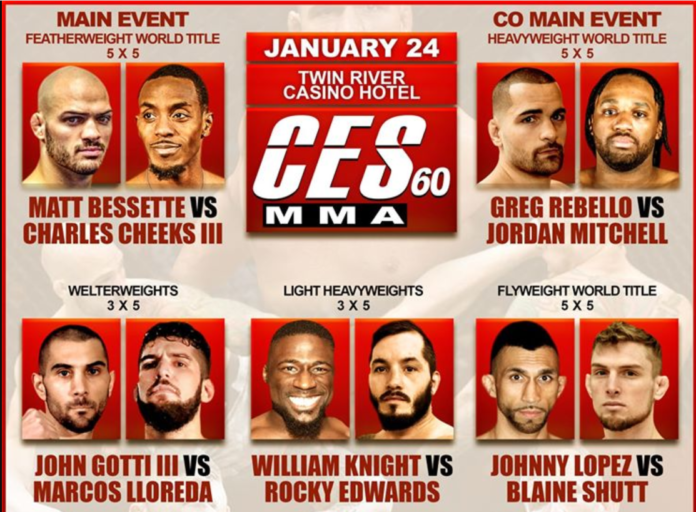 CES MMA 60 Results