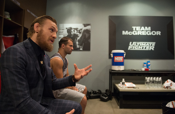 Conor McGregor coaches on The Ultimate Fighter