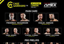 Cage Warriors 118 Results