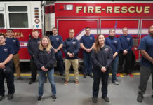 Mike Rhodes becomes firefighter