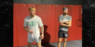 Jake Paul training with Jorge Masvidal