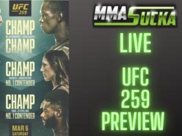 MMASucka Live - UFC 259 Preview