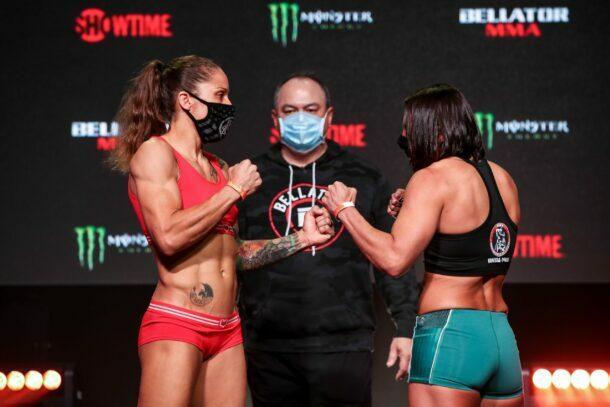 Liz Carmouche vs. Vanessa Porto - Bellator 256 weigh-in results