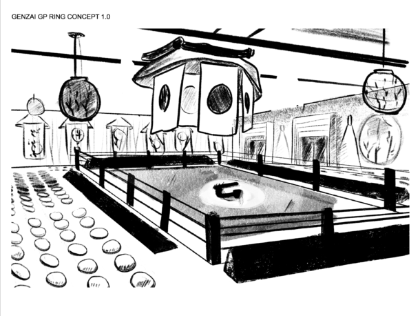 Genzai Freestyle Fighting Ring Concept