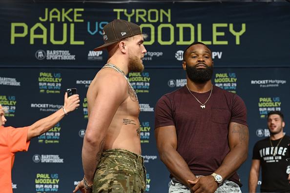 Jake Paul vs. Tyron Woodley Face-Off