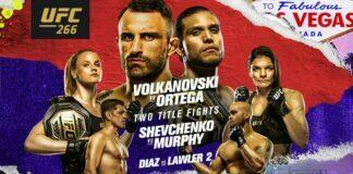 UFC 266 odds